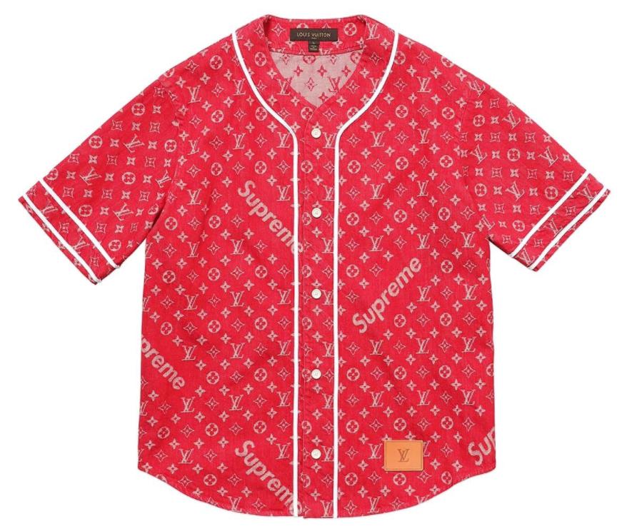 ルイヴィトン×シュプリームベースボールTシャツ