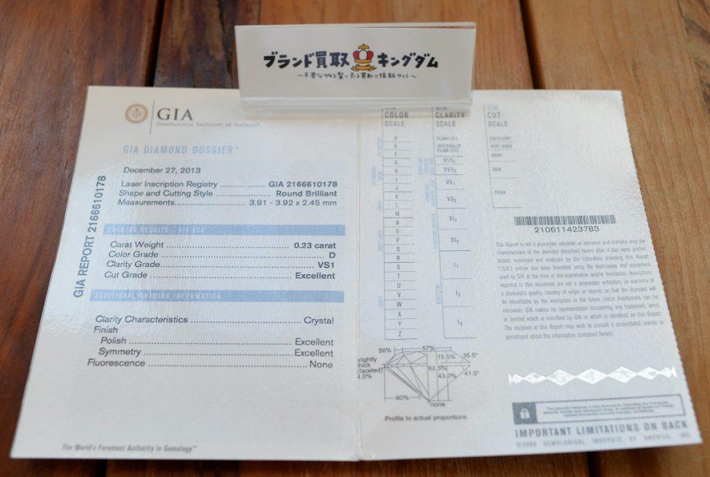 ダイヤのGIA保証書