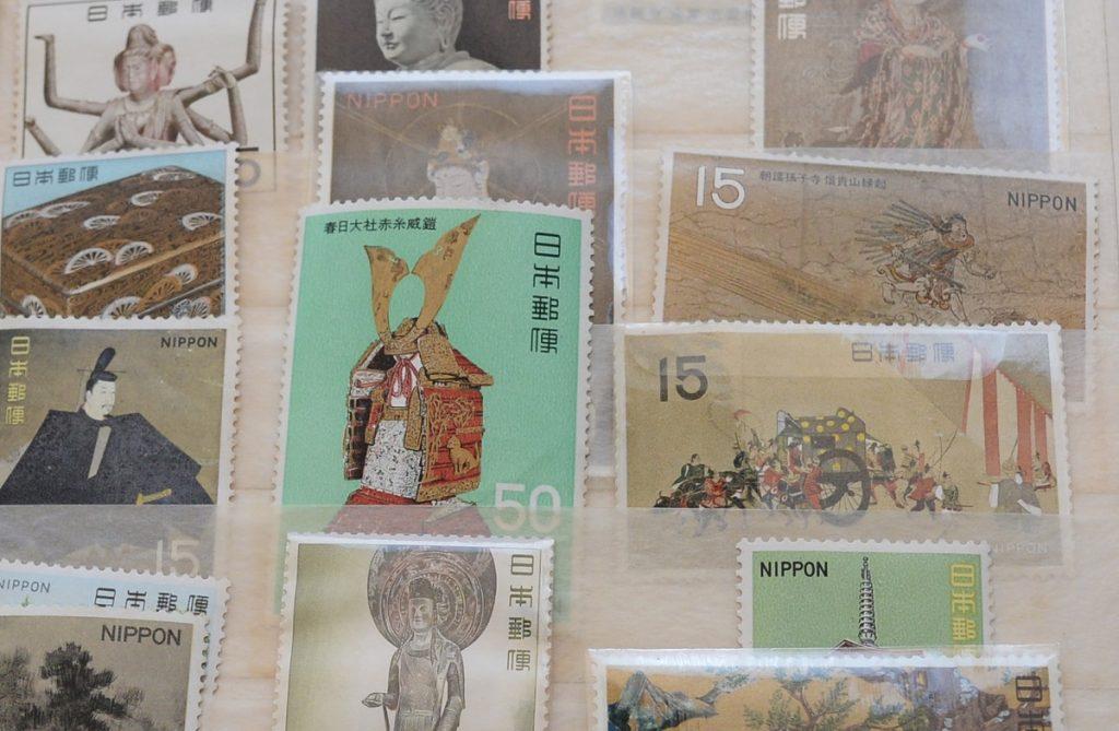 古い日本の切手