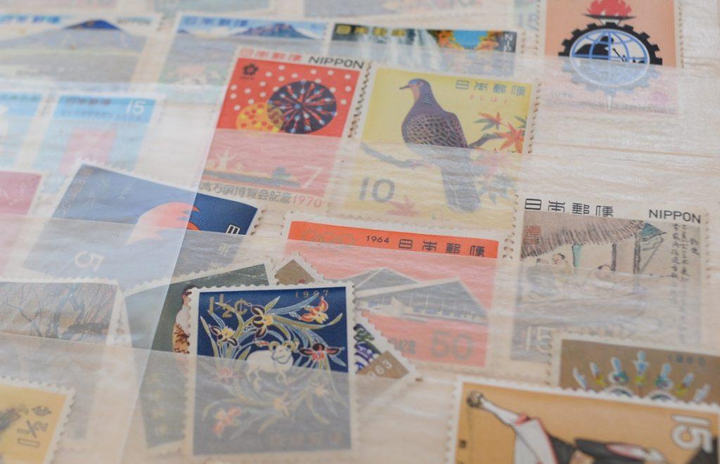 日本の古い切手バラ