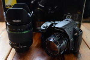 カメラ査定に出したPENTAXのK30とレンズ