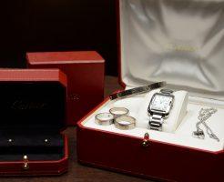 Cartierの品物7点で査定を比較
